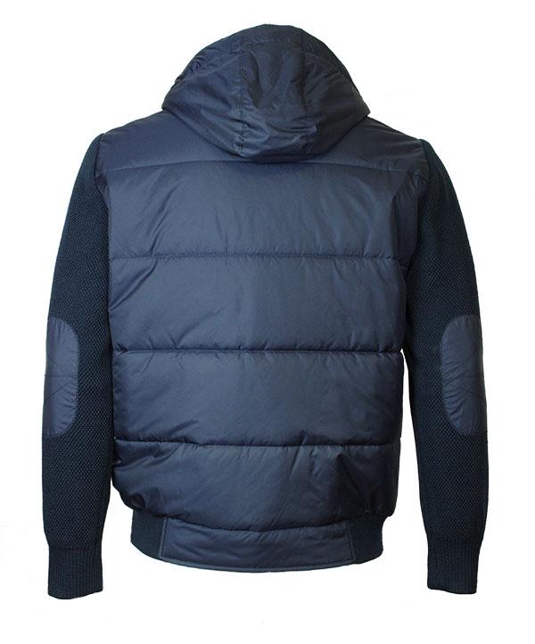 31529edc1af5 Мужская комбинированная куртка Santoryo 4221 синего цвета. Мужская  комбинированная ...