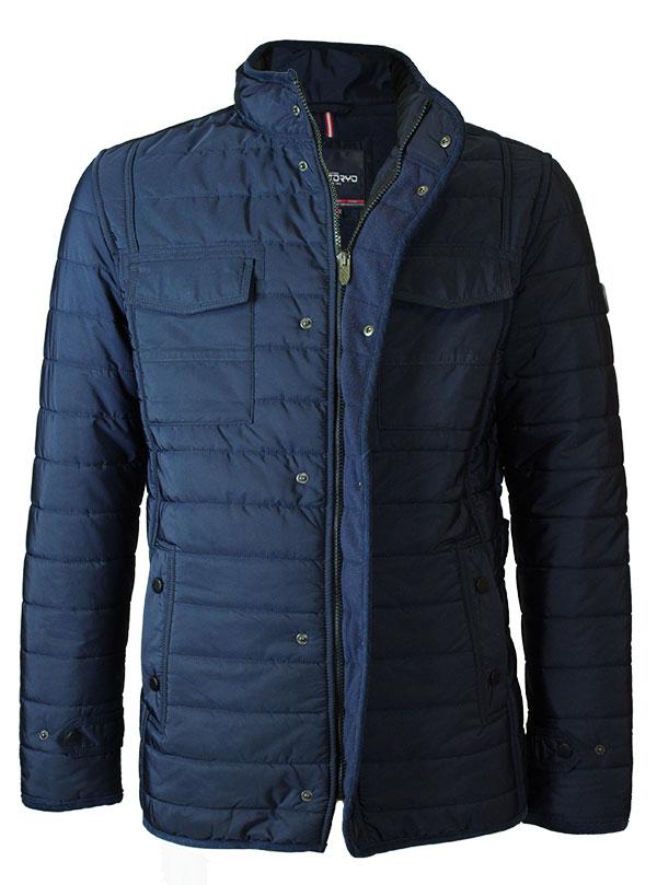 Мужская демисезоннаяя куртка SANTORYO 8240 синего цвета в фирменном ... 21a11d79b0e55